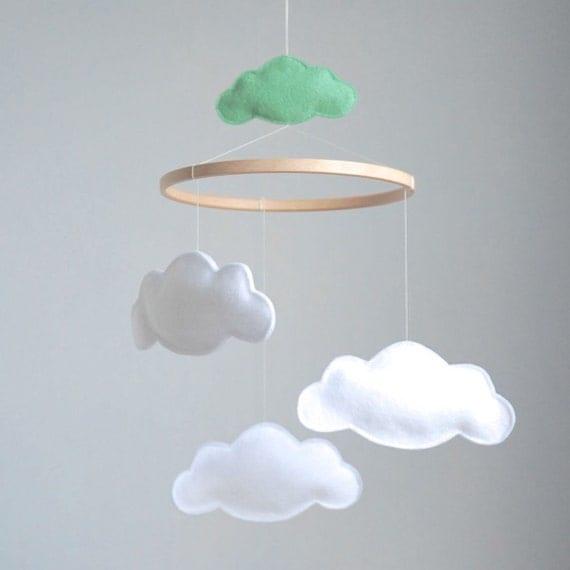 items similar to cloud baby crib mobile custom colors