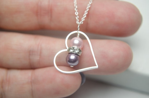 Custom Mom Necklace | Mom of 2 Children | Couples Necklace | Birthday Birthstone Necklace | Heart Necklace | Anniversary Gifts for Her