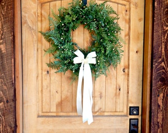 Fern Door Wreath-Wedding Decor-Scented Wreaths-Housewarming Gift-FERN Wreath-Wedding Gift-Cottage Chic Decor-Outdoor Wreath-Custom Made USA