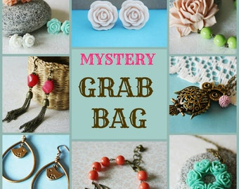 Mystery Grab Bag - Antique Brass Jewelry Mystery Lot - Wholesale Price Jewelry - Jewelry Surprise