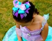 Little Mermaid Bow - Little Mermaid Party - Under the Sea Bow -  Starfish Hair Clip