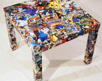 CUSTOM Comic Book Table Top and LEGS Free Shipping USA