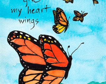 158. butterflies love and friendship card - choose any six card designs