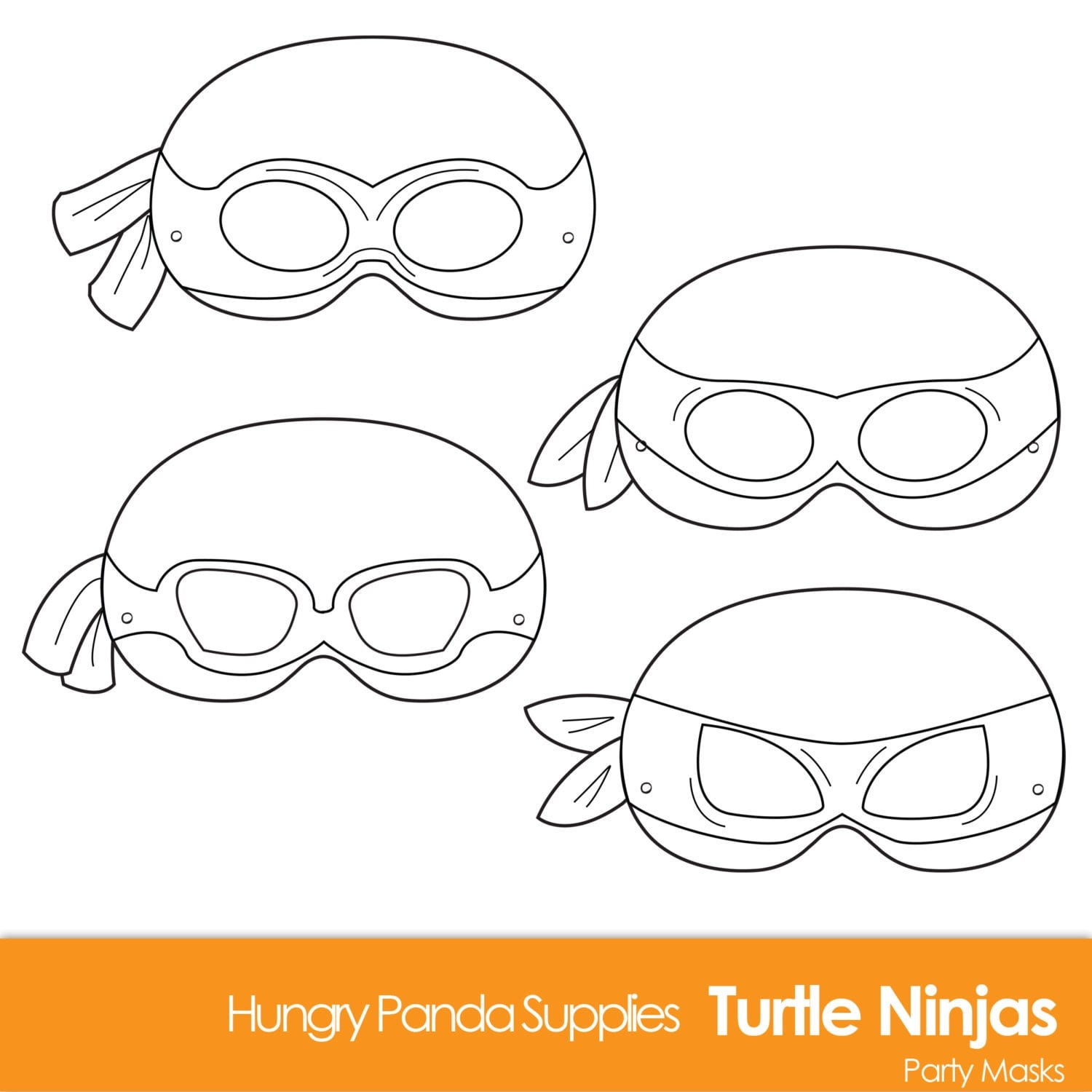 Challenger image within ninja turtle mask printable