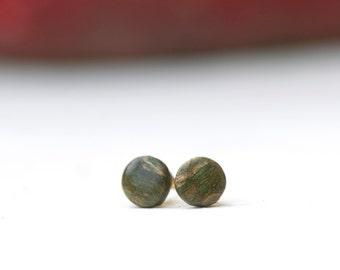 Acrylic Maple Wood Stud Earrings