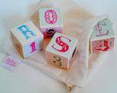 Mini wooden alphabet blocks - custom name blocks