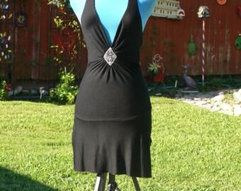 Black  Halter top Dress Size  5