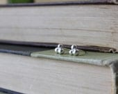 Silver Bubble Studs - Recycled Silver Earrings - Bubble Post Earrings - Reclaimed Silver Balls - Argentium Silver Jewelry - Hypoallergenic