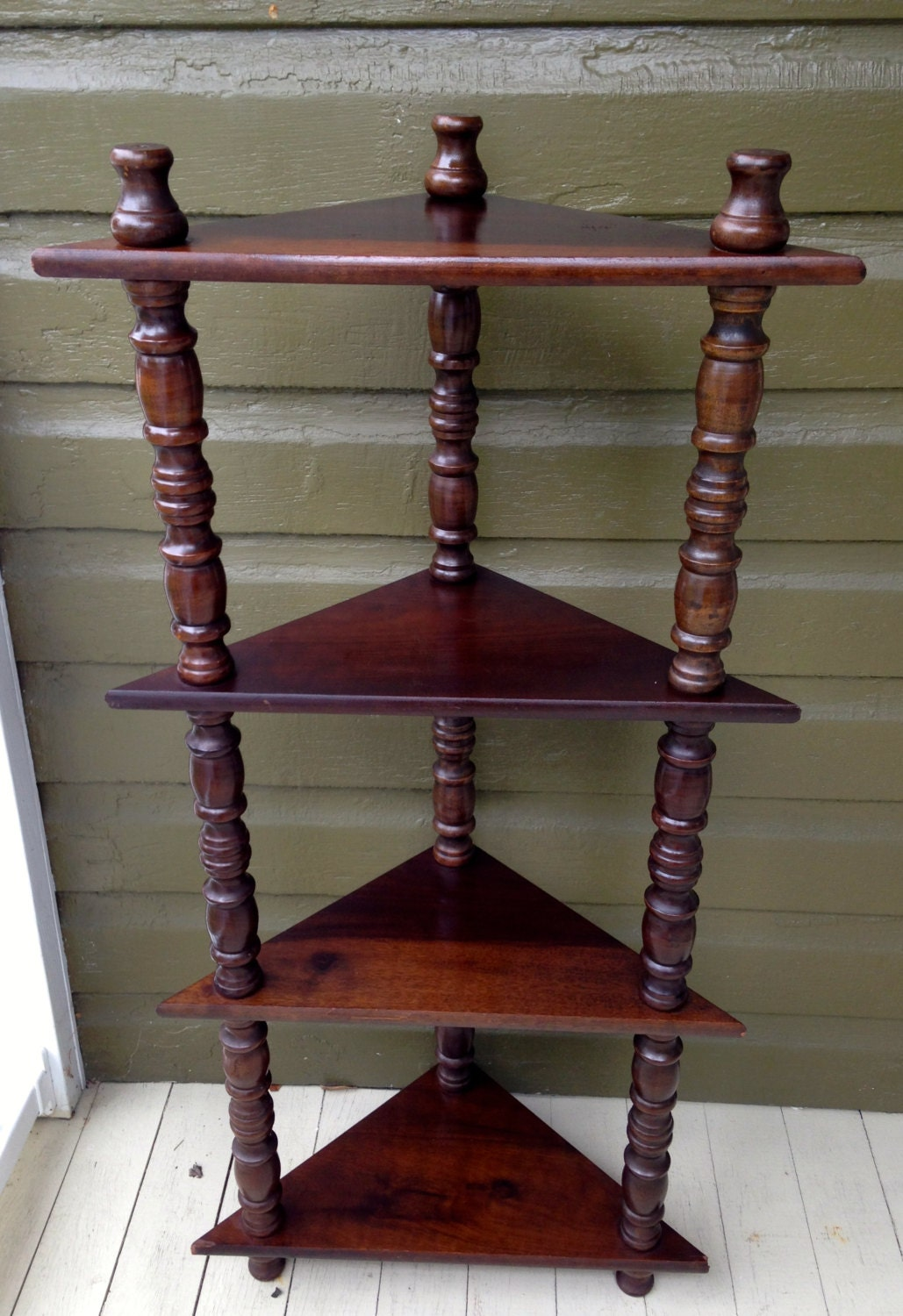 Knic knac free standing curio wooden with spindle legs furniture