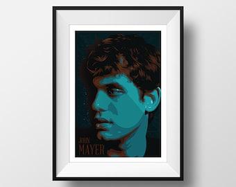 John Mayer Poster print - Home decor wall art.