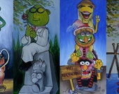 Muppets Haunted Mansion Stretching Room Portraits (Print)