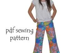 Funky Flares pdf sewing pattern girls sizes 2-14