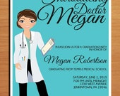 Doctor / Medical Degree Graduation Party Invitation Cards PRINTABLE DIY