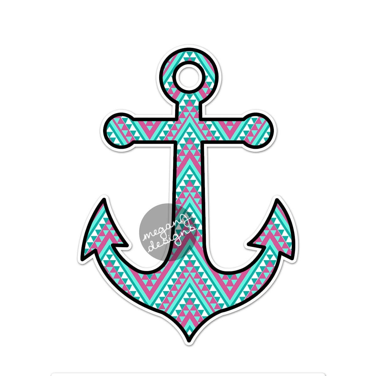 Anchor car decal sticker colorful tribal pattern cute - Anchor pictures tumblr ...