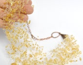 Citrine Necklace, Gold Beaded Jewelry, Seed Bead Jewellery, Sand Bridal Jewelry, Wedding Necklace, Gemstone necklace, Chunky find, Trending
