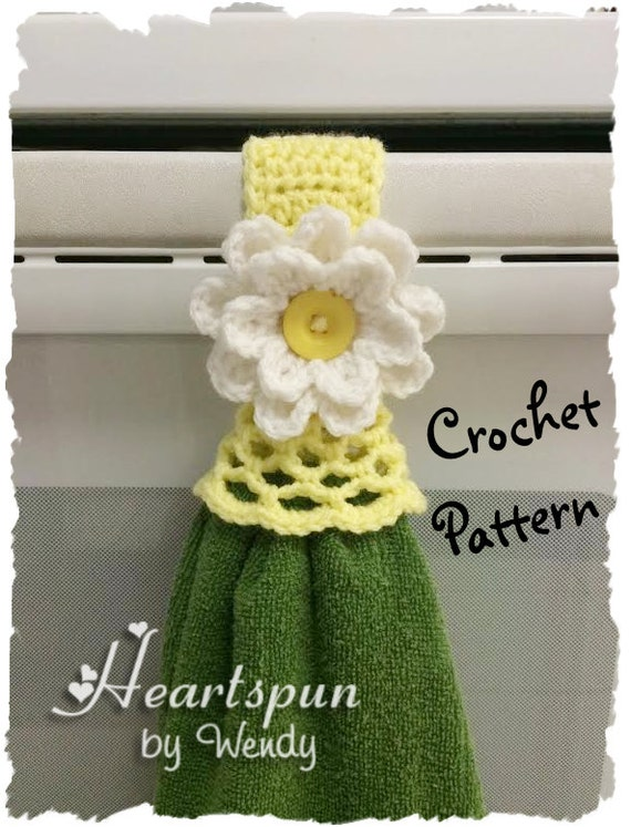 Crochet Patterns Kitchen Towels : CROCHET PATTERN to make a Kitchen or Bath Towel Topper Ring with ...