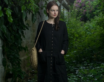 Linen Buttoned Dress / Coat