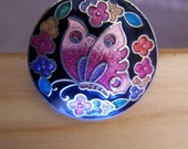 """Vintage 80's """"BUTTERFLY BOOKMARK HOOK"""" Cloisonne Style"""