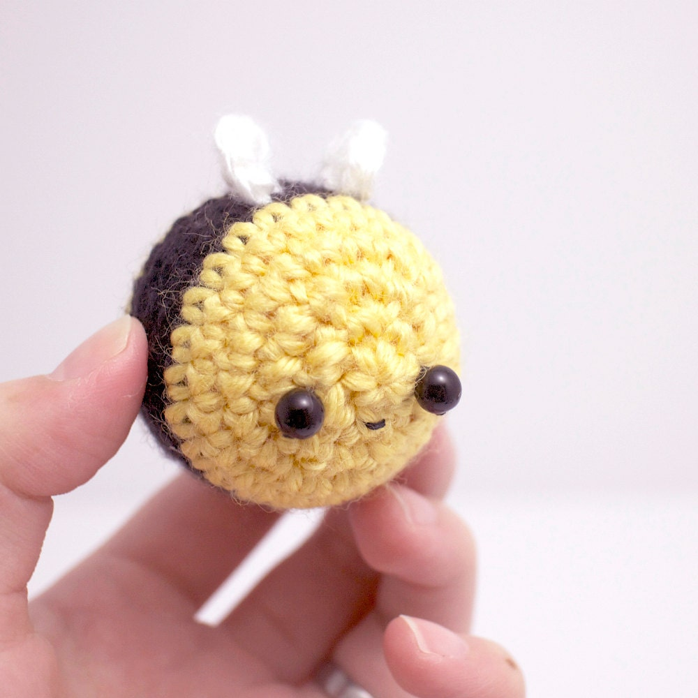amigurumi bee plush kawaii crochet bumble bee by mohustore
