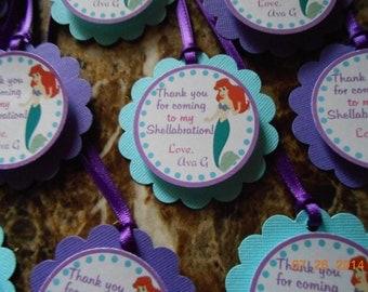 Little Mermaid Favor Tags-Little Mermaid Thank You Tags-Little Mermaid Party Tags-Little Mermaid Decoration-Ariel Party Decoration