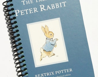 The TALE of PETER RABBIT Notebook Journal recycled spiral bound -  Covers Only