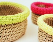 PATTERN - the boho bowls: Beginner Crochet Bowl Pattern in Small, Medium, and Large Sizes