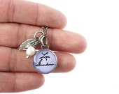 Memorial Charm Necklace Using Actual Handwriting