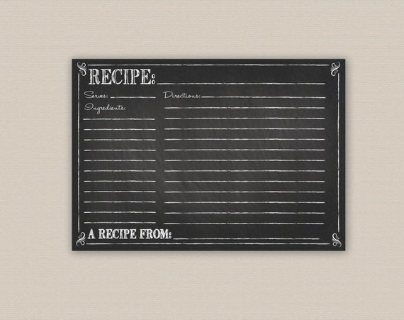 Recipe Chalkboard to Chalkboard Recipe Card