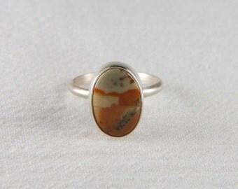 Picture Jasper Ring Artisan Ring Natural Stone Ring Bezel Ring Picture Jasper Jewelry Artisan Jewelry