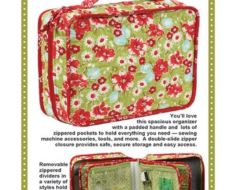 A Place for Everything Quilted Sewing Notions Organizer -  KIT & PATTERN - Patterns by Annie - Carry on Plane Size