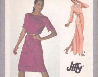 80s Jiffy Dress Pattern Simplicity 9283 Size 12 Uncut