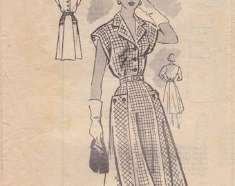 1950s Sweet Summer Dress Pattern Anne Adams 4992 Bust 42