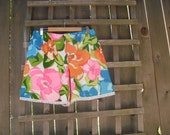 Bright Floral Hawiian Kitsch Bloomer Shorts/ Funky Pixie Shorts Beach Wear Summer Shorts Size M/L