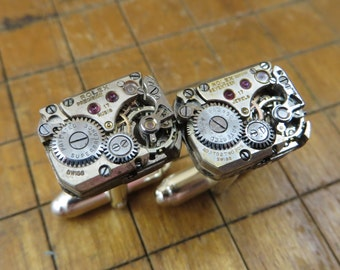 Rolex Watch Movement Cufflinks. Great for Fathers Day, Anniversary, Wedding or Just Because