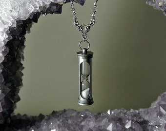 Hourglass Necklace - Time in a Bottle