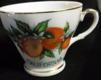 Vintage State of California Souvenir Tea Cup with gold trim