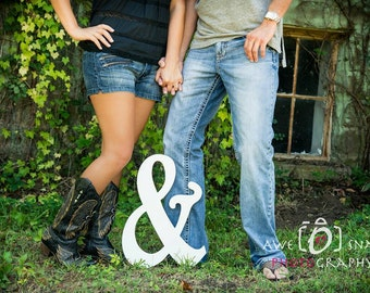 Wooden Ampersand Photography prop, Wooden Alphabet Letters, DIY, Engagement, Wedding Decor, Photography Props, Wedding