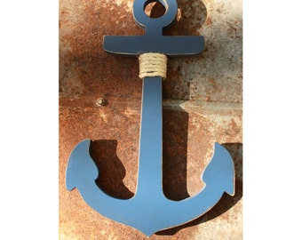 Wood Anchor DIY Jumbo Rustic painted and aged 14 - 18 inches