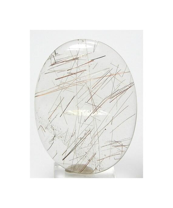Lush Golden Rutilated Quartz Oval stone calibrated cabochon Unset Loose Natural Semi Precious Jewel