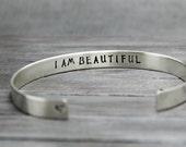 Sterling Silver Cuff Bracelet, Silver Bracelet, Personalized Silver, 925 Silver Cuff, Adustable Cuff, Cuff Bracelet, handstamped Jewelry