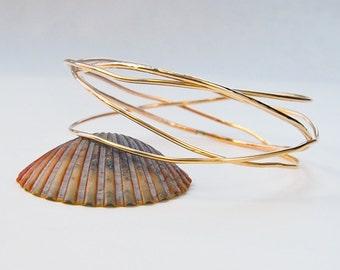 Gold Multi Bangle Set . Small Size