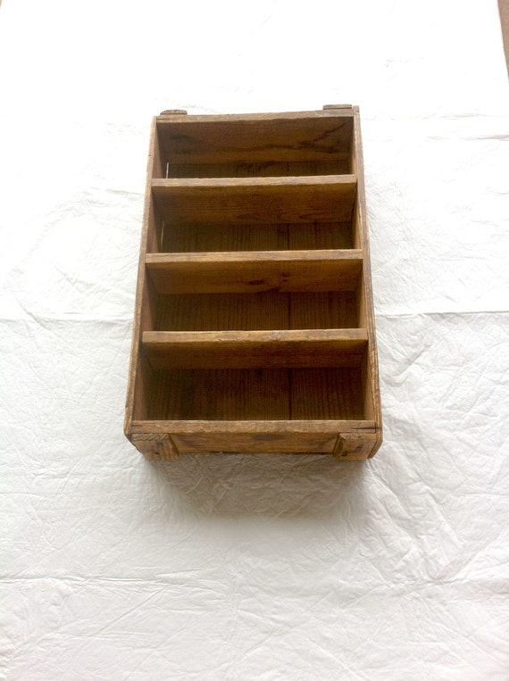 J R Watkins Co Vintage Wooden Box Crate Shelves Divided
