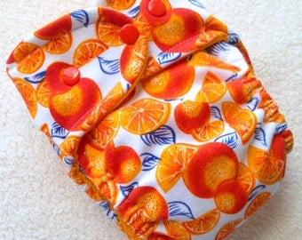 Fitted cloth diaper, size MD, ready to ship