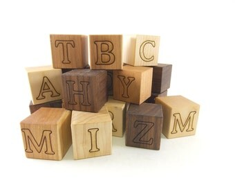 Personalized Wood Name Blocks - Alphabet Building Blocks, perfect for play and nursery decor