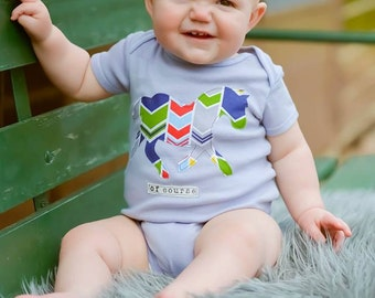 "Swanky Shank Boy ""A Horse of Course"" Hand Dyed Bodysuit"