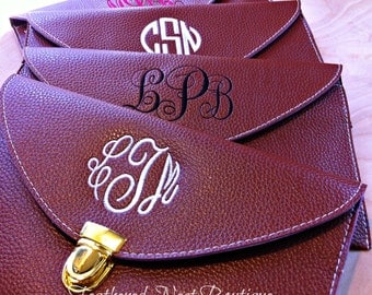 Monogrammed Envelope Clutch Purse - Monogram Envelope Clutch - Preppy Clutch Bag - Monogrammed Clutch Tote - Monogram Clutch - Preppy Clutch