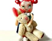 Small miniature cloth art doll