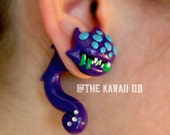 Baron nashor faux plugs League of Legends, hand sculpted polymer clay, Gamer plugs