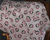Pink and White Penguin Rag Quilt