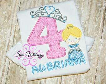 Cinderella birthday shirt- Cinderella birthday theme- Princess shirt